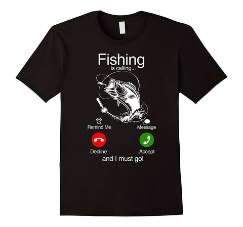 Fishinger Is Calling and I Must Go Phone Screen T-shirt - Brag Fishing Australia