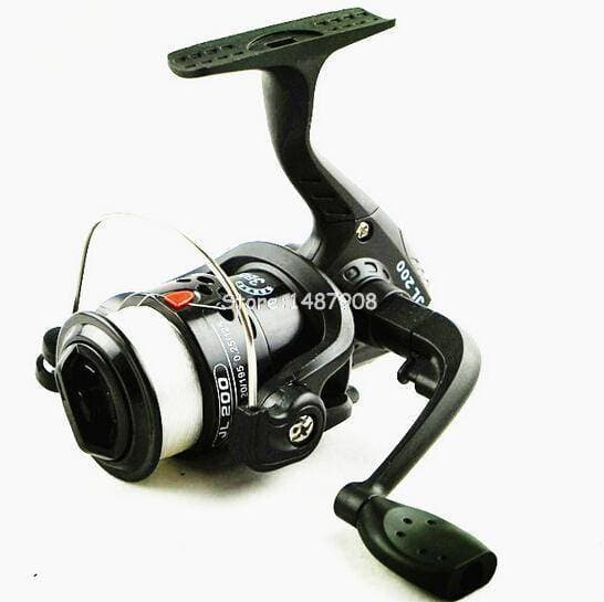 Brag Fishing Spinning Reel Portable Feeder 3BB with 70M Line Small Line Rock Plastic Black - Brag Fishing
