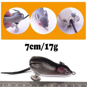 1Pcs mouse Lure 7cm 17.5g Fishing Lures Treble Hooks Top water Ray Frog Artificial Crank - Brag Fishing Australia