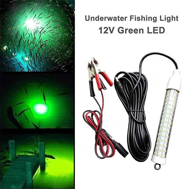 12V 120LED 1000Lumens Lure Bait 10W Night Fishing LED boat fishing Deep Drop Underwater Light - Brag Fishing Australia