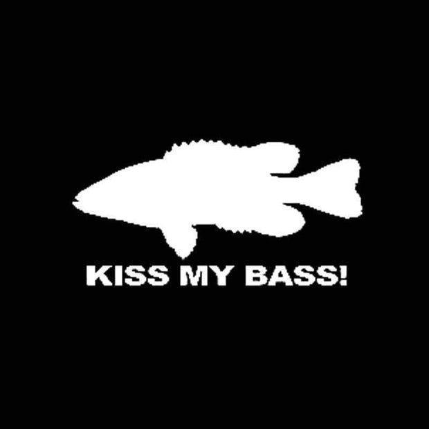 Kiss my bass decal - Brag Fishing Australia