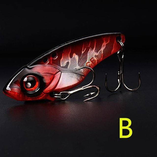 1Pcs 40mm 6g 9g 12g Metal VIB Fishing Lure Crankbait Bait Treble With 2 Hooks - Brag Fishing Australia