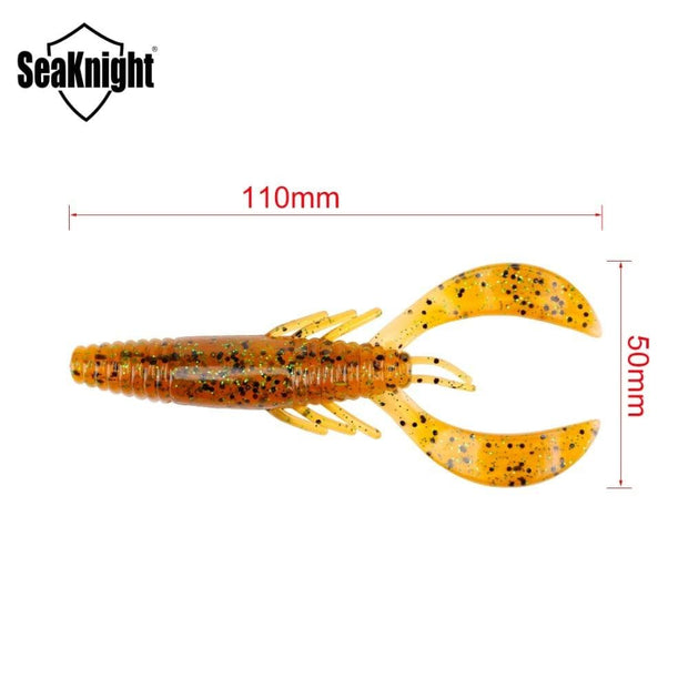 SeaKnight SL021 Soft Baits Shrimp 11.5g 11cm 4.3in 4PCS Soft Fishing Lure Artificial Soft Fishing Lure Shads Wobbler for Fishing - Brag Fishing