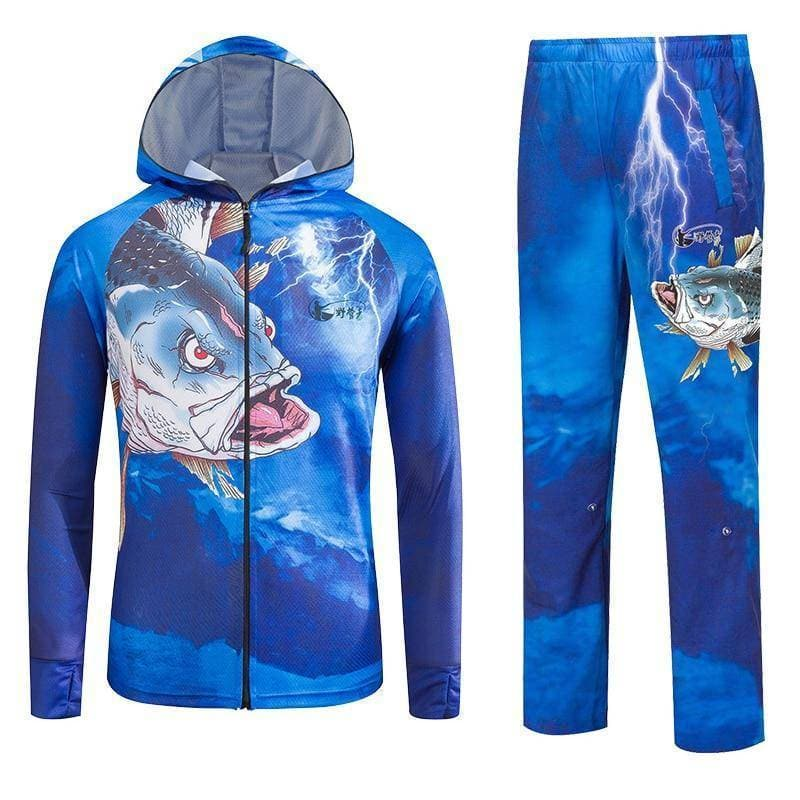 Angry Fish tournament shirt with UV Protection