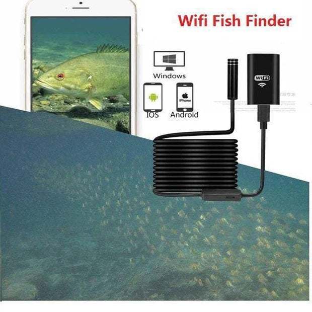Portable Wifi Fishing Finder Inspection HD Night Vision Camera 10m Cable Underwater Camera Fish Finder Fit for Android iOS Phone - Brag Fishing Australia