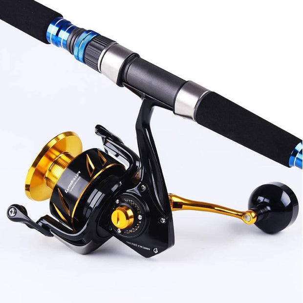 Lurekiller Saltwater Spinning Jigging fishing Reel Spinning reel 10BB Alloy reel 35kgs drag power Japan Made - Brag Fishing