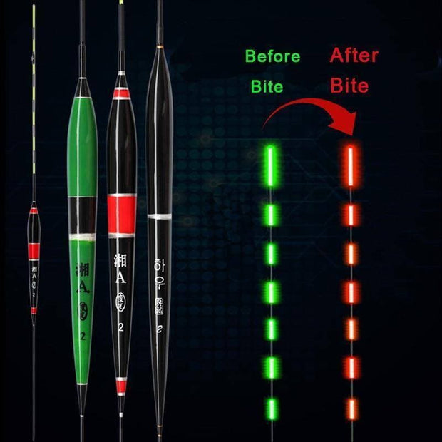 Smart Fishing Led Light Float Night Luminous Fishing Floats Automatically Remind Electric Glowing Fishing Float Buoy Battery - Brag Fishing Australia