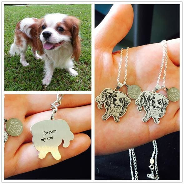 Personalize Silver Pet Necklace (925 Sterling Silver)