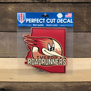 Tucson Roadrunners Wincraft 8x8 Window Decal - Color