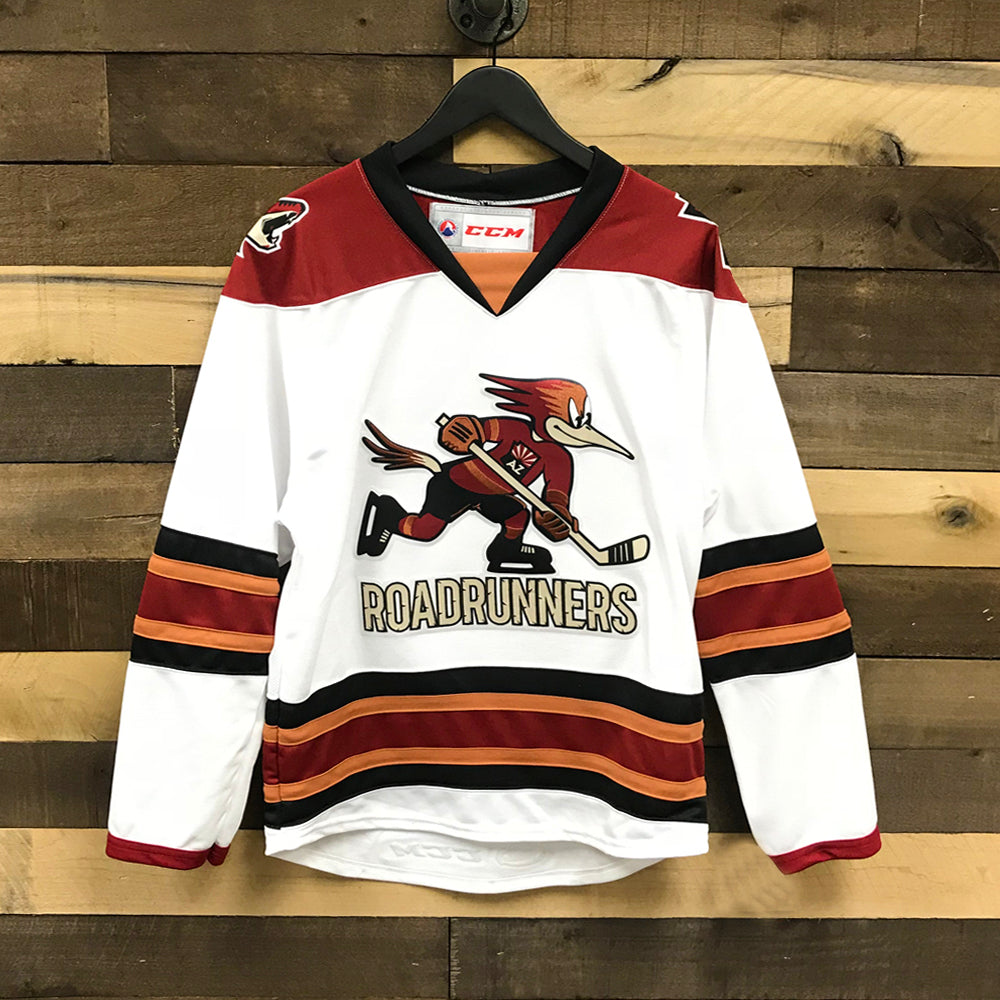 big sale 11845 4131b Tucson Roadrunners Youth CCM Replica Jersey - White