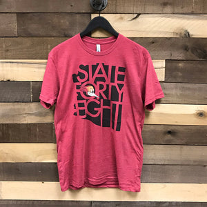 Tuscon Roadrunners State Forty Eight Head Logo Tee - Red