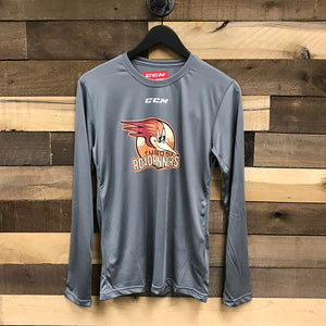 Tucson Roadrunners CCM Tech Long Sleeve Tee - Gray