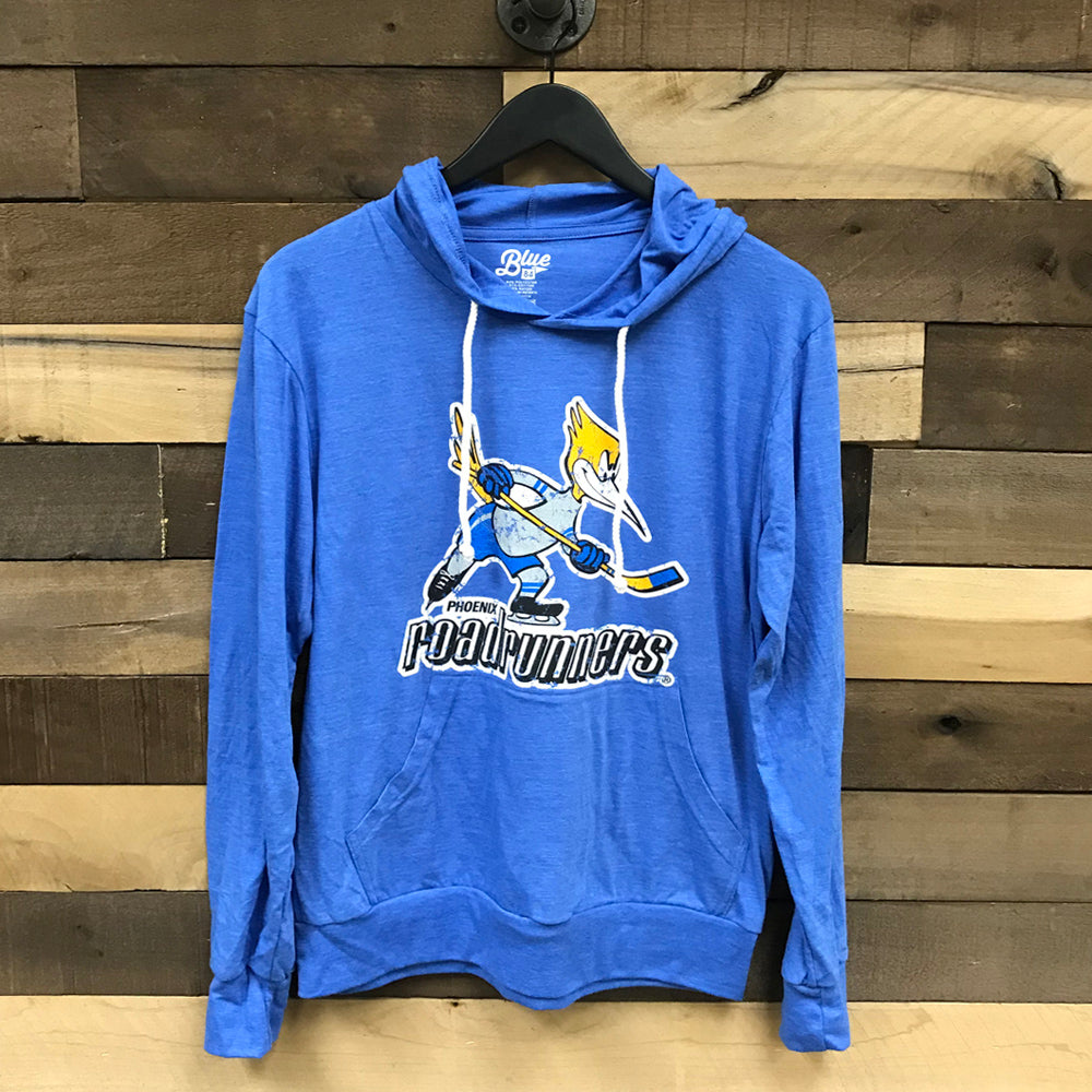 Tucson Roadrunners Blue 84 Throwback Triblend Hooded Long Sleeve Tee - Blue