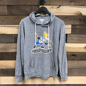 Tucson Roadrunners Blue 84 Throwback Triblend Hooded Long Sleeve Tee - Gray