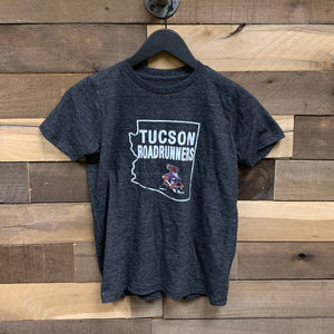 Tucson Roadrunners Youth Blue 84 Lights On Logo Tee - Black