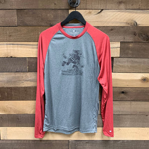 Tucson Roadrunners Colosseum Rad Tad Long Sleeve Raglan Tee - Gray