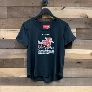 Tucson Roadrunners Women's CCM Logo Tech Tee - Black