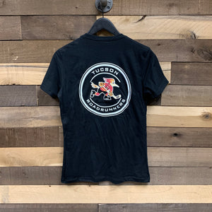 Tucson Roadrunners Women's Front & Back Circle Tee - Black