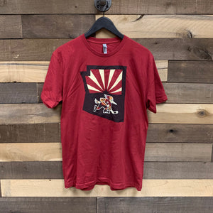 Tucson Roadrunners State Logo Tee - Red