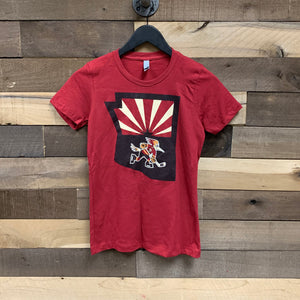 Tucson Roadrunners Women's State Logo Tee - Red