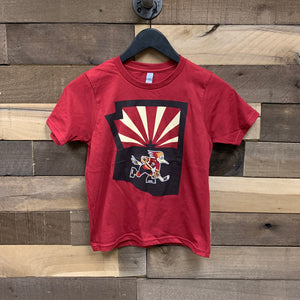 Tucson Roadrunners Youth State Logo Tee - Red