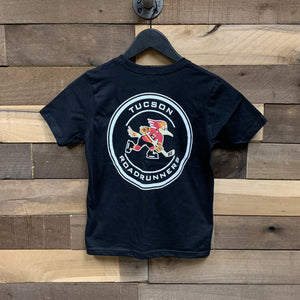Tucson Roadrunners Youth Front & Back Circle Tee - Black