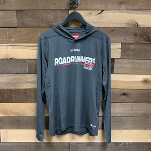 Tucson Roadrunners CCM Hooded Long Sleeve Tee - Charcoal