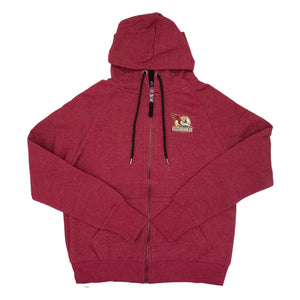 Tucson Roadrunners Women's Colosseum Genius Full Zip Hoodie - Maroon