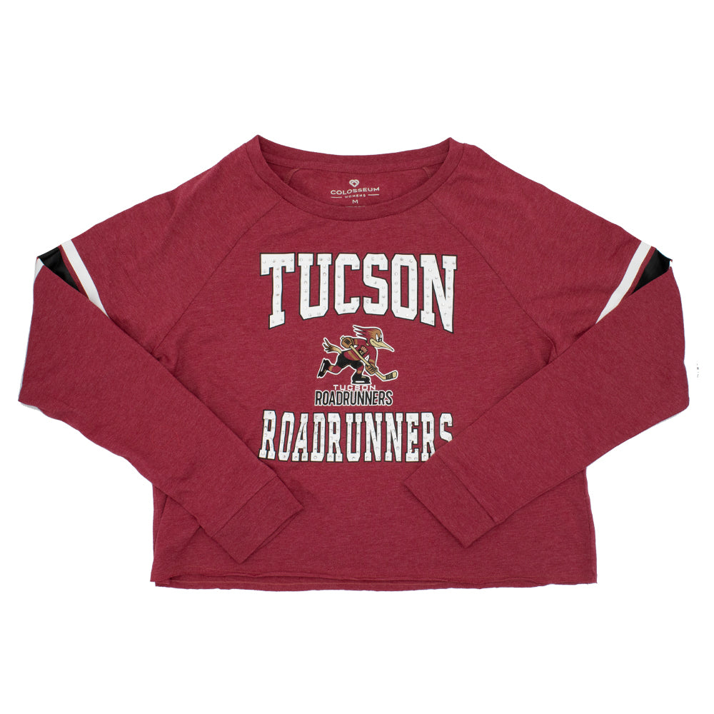 Tucson Roadrunners Women's Colosseum Whimsical Long Tee - Maroon