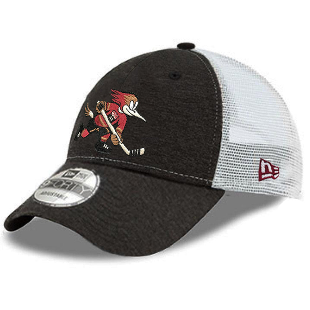 Tucson Roadrunners New Era Official Logo Shadow Tech Trucker 9FORTY - Charcoal