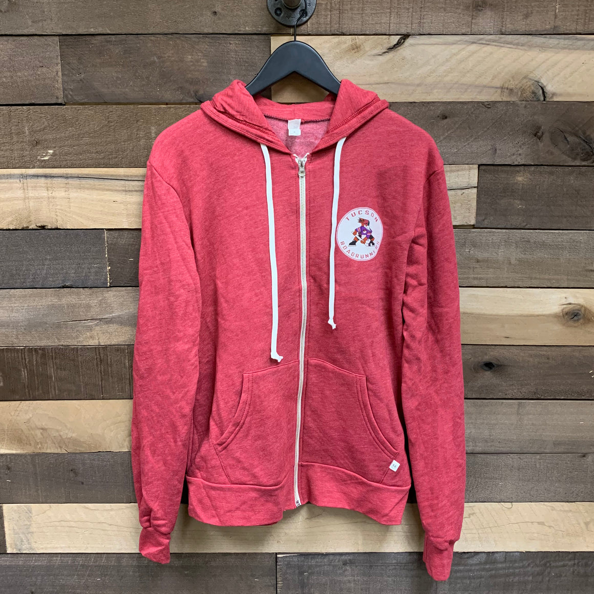 Tucson Roadrunners Blue 84 Versatile Full Zip Hoodie - Red