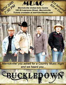 Buckledown - Nov 24th - 7:30pm