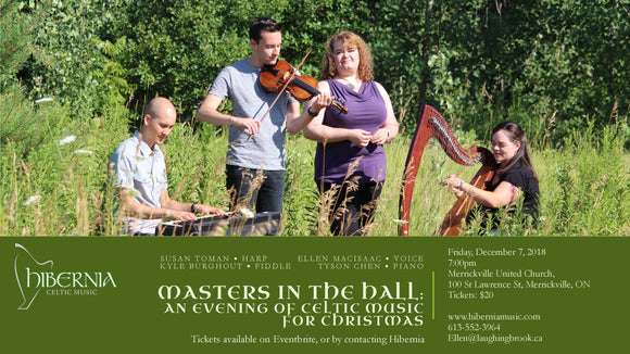 Masters in the Hall - Hibernia Celtic Christmas December 7th