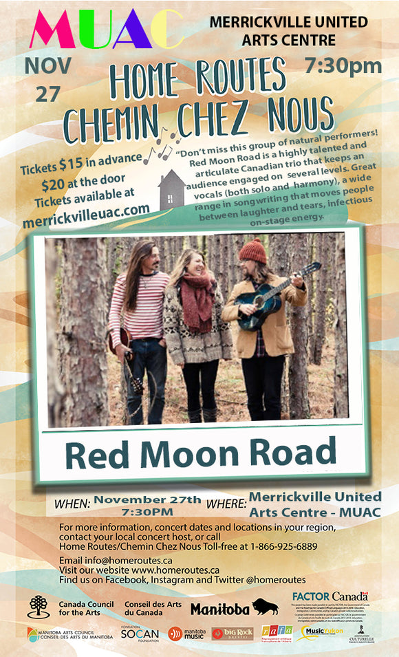 Red Moon Road - Tuesday Nov 27 - 7:30pm