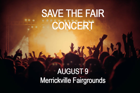 Aug 9 - Save The Fair Concert at Merrickville Fairgrounds