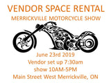 Vendor Space June 23 at Merrickville Motorcycle Show