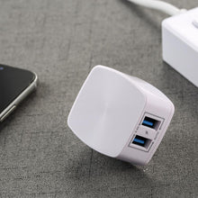 Load image into Gallery viewer, 2.4A Dual USB Charger & Data Cable for Lightening RP-U215