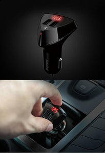 Alien Series Car Charger 2 USB Ports With Voltage Indicator RCC208 - Remax online