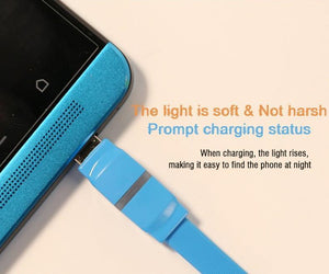 Breathe Micro-USB Cable with LED indicator RC-029m -- Charging & Data Cable - Remax online