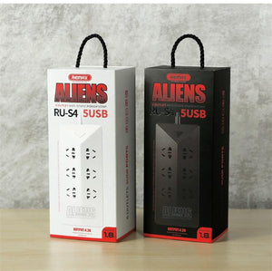 Extension Cord Alien 6-Port 5 USB Charger RU-S4 - Remax online