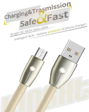 Load image into Gallery viewer, Kinght Cable for Micro-USB with LED indicator RC-043m - Remax online