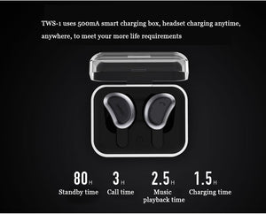 Double Ear Wireless bluetooth Earphones with Charging & Storage TWS-1 - Remax online
