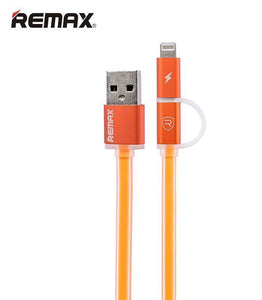 Aurora 2 IN 1 Micro/ Lightning Charging & Data Cable RC-020t - Remax online