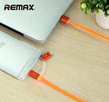 Load image into Gallery viewer, Aurora 2 IN 1 Micro/ Lightning Charging & Data Cable RC-020t - Remax online