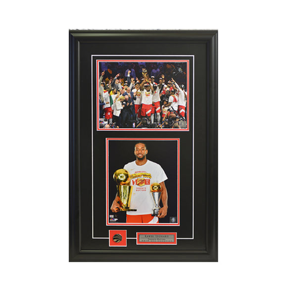 Kawhi Leonard Trophies & Team Trophy Framed Photo (17 by 27 Frame)