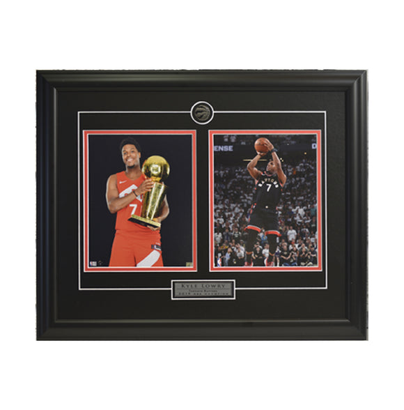 Kyle Lowry Trophy & Action Shot Framed Photo (23 by 19 Frame)