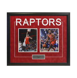 Kawhi Leonard & Kyle Lowry Dual Shot in Suede Framed Photo (27 by 35 Frame)