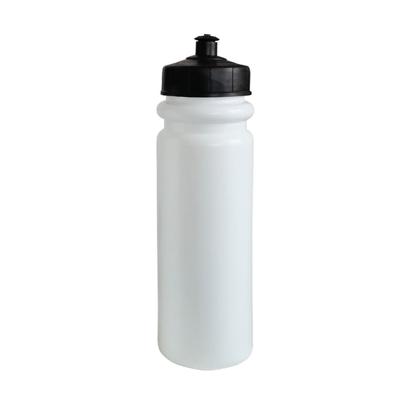 850ml White 'Tall Boy' Water Bottle (Pop Lid)