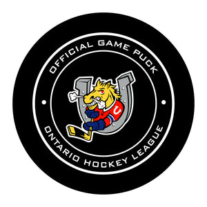 Barrie Colts Hockey Puck