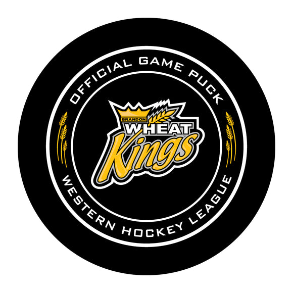 Brandon Wheat Kings Hockey Puck